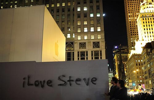 grafitti en memoria a Steve Jobs