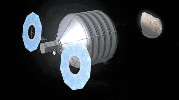 Concept of Asteroid Capture in Progress -nasa.jpg de Externa ABC